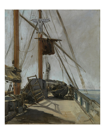 The Ship's Deck, c. 1860 Giclee Print by Édouard Manet