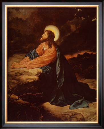 Christ in Gethsemane Prints by E. Goodman
