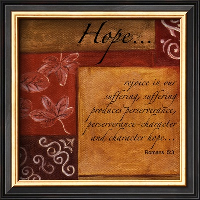 Words to Live By, Hope Prints by Debbie DeWitt