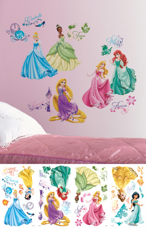 Disney Princess - Royal Debut Peel and Stick Wall Decals Wandtattoo