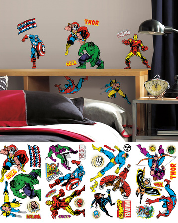 Marvel Classics Peel and Stick Wall Decals Wall Decal
