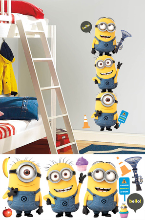 Despicable Me 2 Minions Giant Peel and Stick Giant Wall Decals Wallstickers
