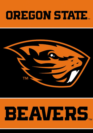 NCAA Oregon State Beavers 2-Sided Banner with Pole Sleeve Flag