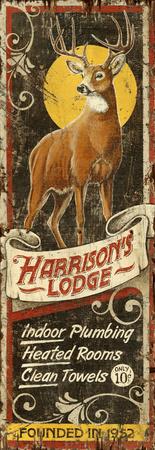Deer Lodge Wood Sign Wood Sign