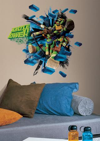Teenage Mutant Ninja Turtles Brick Poster Peel & Stick Giant Wall Decal Wall Decal