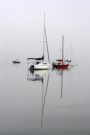 Red Sailboat II Photographic Print by Tammy Putman