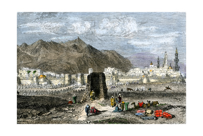 Tomb of the Prophet Muhammad, Medina, Arabia, 1800s Giclee Print