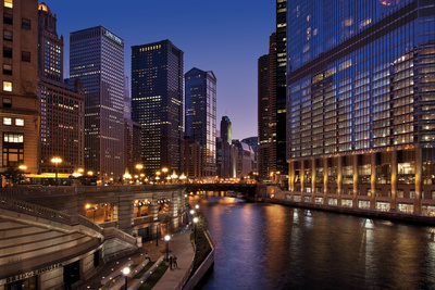 Chicago River Dusk II Photographic Print by Larry Malvin
