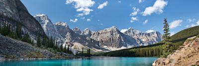 Moraine Lake Panorama Photographic Print by Larry Malvin