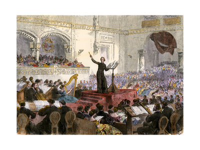 Franzi Liszt Conducting His New Oratorio at Budapest, Hungary, 1860s Giclee Print