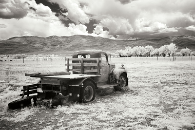 Truck in Field Photographic Print by George Johnson
