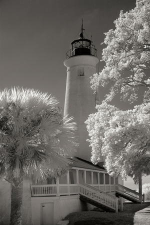 St. Marks Lighthouse Photographic Print by George Johnson