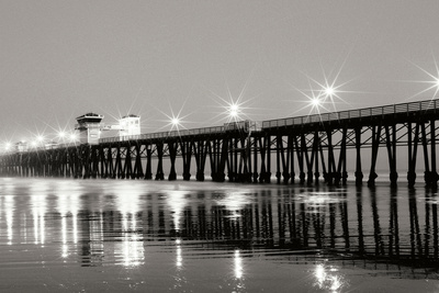 Pier Night Panorama I Photographic Print by Lee Peterson