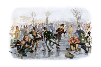 A Skating Scene in Boston, Massachusetts, 1850s Giclee Print