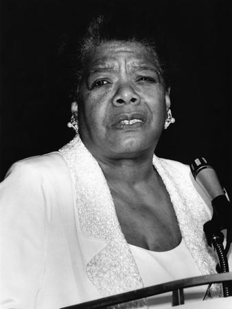 Maya Angelou Photographic Print by Fred Watkins