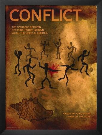 Conflict (Lord of the Flies) - Element of a Novel Prints by Christopher Rice
