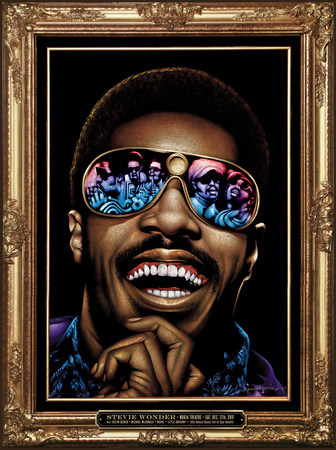Stevie Wonder portrait art print artwork by Kii Arens