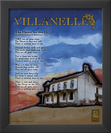Villanelle Poetry Form Prints by Jeanne Stevenson