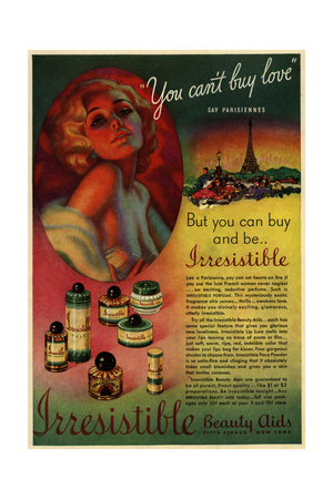 1930s USA Irresistible Magazine Advertisement Giclee Print