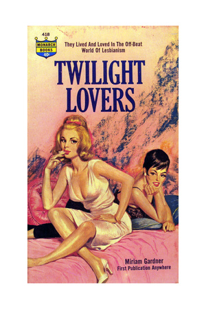 1960s USA Twilight Lovers Book Cover Giclee Print