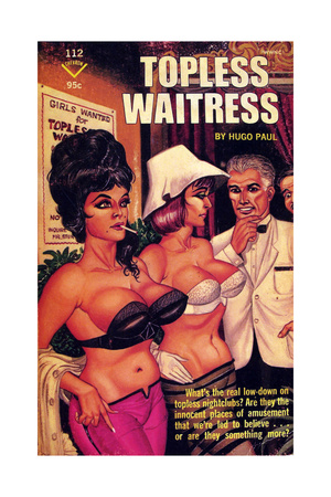 1960s USA Topless Waitress Book Cover Giclee Print