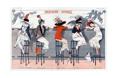 1910s France La Vie Parisienne Magazine Plate Giclee Print