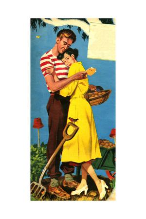 1950s UK Romance Magazine Plate Giclee Print