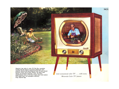 1950s USA Motorola Magazine Advertisement Giclee Print