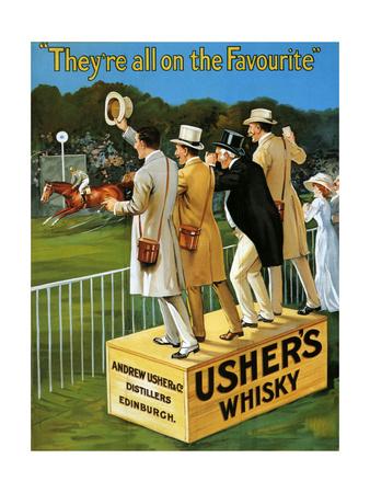 1910s UK Usher's Poster Giclee Print
