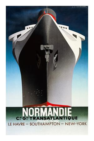 Normandie 1935 Plakater af Adolphe Mouron Cassandre