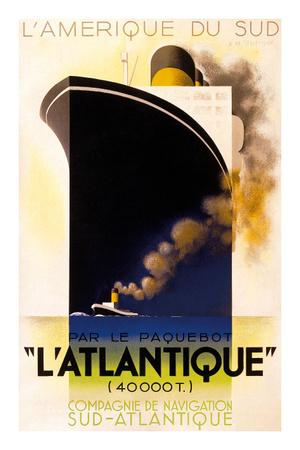 L'Atlantique 1931 Kunstdruck von Adolphe Mouron Cassandre