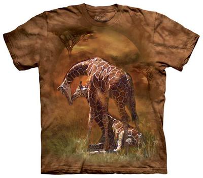 Giraffe Sunset T-shirts