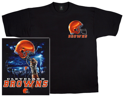 NFL: Browns Logo Sky Helmet T-Shirt