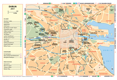 Michelin Official Dublin French Map Art Print Poster Posters