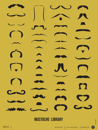 Mustache Library Poster Posters by  NaxArt
