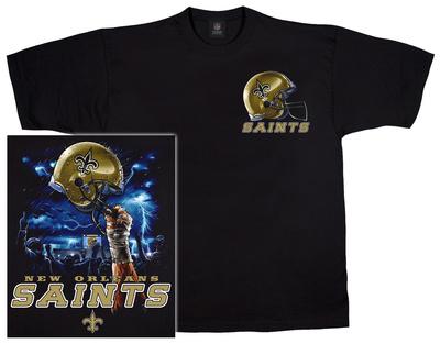 NFL: Saints Logo Sky Helmet T-shirts