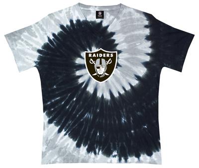 Juniors: NFL: Raiders Logo Spiral V-Dye Womens V-Necks