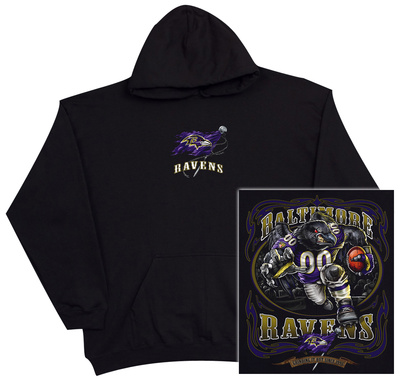 Hoodie: NFL: Baltimore Ravens- Running Back (Front/Back) Pullover Hoodie