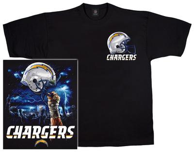 NFL: Chargers Logo Sky Helmet T-shirts