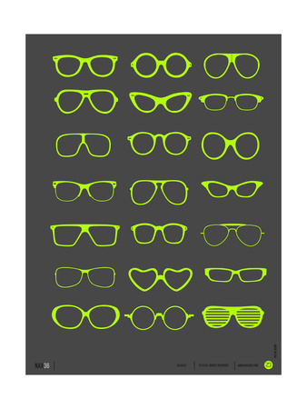 Glasses Poster III Prints by  NaxArt