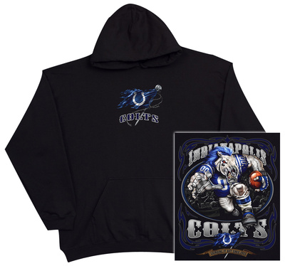Hoodie: NFL: Indianapolis Colts- Running Back (Front/Back) Pullover Hoodie