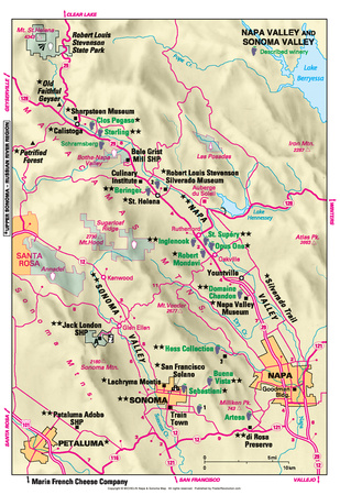 Michelin Official Napa and Sonoma Valley Map Art Print Poster Posters