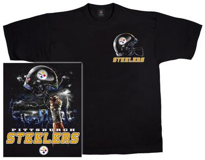 NFL: Steelers Logo Sky Helmet T-Shirt