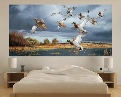 Ducks Flying (Indoor/Outdoor) Vinyl Wall Mural Wall Mural