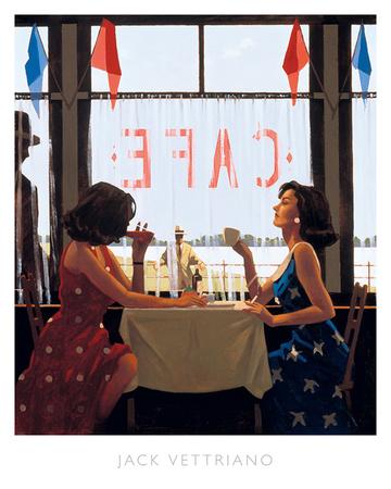 Café Days Prints by Jack Vettriano