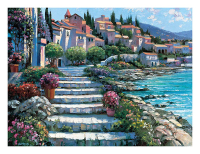 Steps of St. Tropez Prints by Howard Behrens