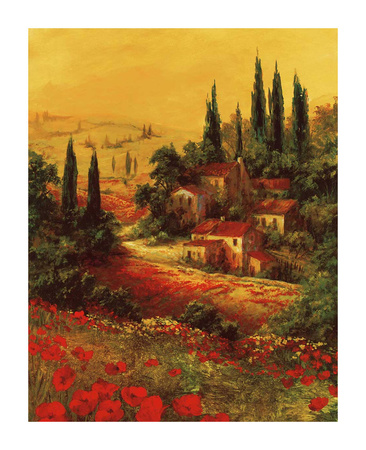 Toscano Valley I Poster di Art Fronckowiak