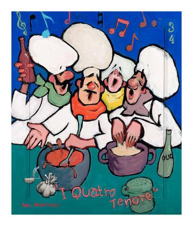 I Quatro Tenore Posters by Robert Dewar Bentley