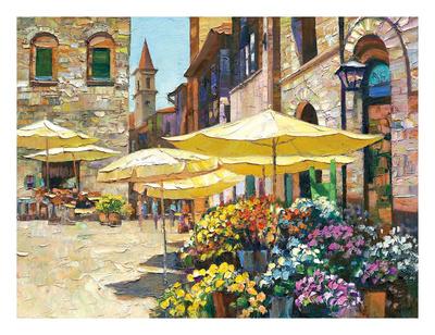 Siena Flower Market Posters by Howard Behrens