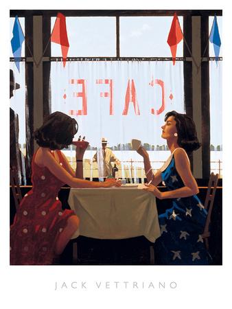 Café Days Print by Jack Vettriano
